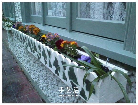 自制窗台花箱的方法 窗台花箱怎么做DIY教程 -  www.shouyihuo.com