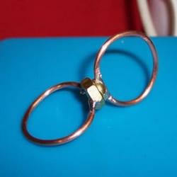 创意情侣戒指DIY 螺丝螺帽制作创意情人节礼物