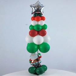 气球做圣诞树的方法 自制气球圣诞树手工制作