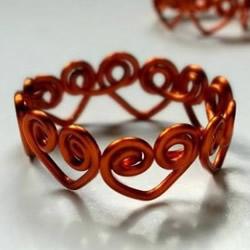 情人节送女友的心连心戒指DIY制作图解