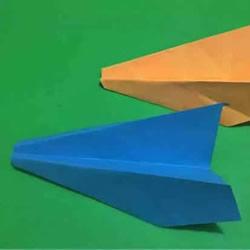 最简单纸飞机的折法 幼儿折纸飞机的简单教程