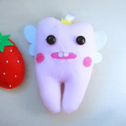 可爱牙宝宝布偶DIY 布艺牙齿宝宝玩偶制作