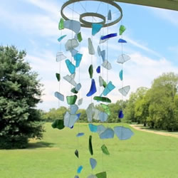 海玻璃手工制作风铃 浪漫海波浪风铃DIY教程