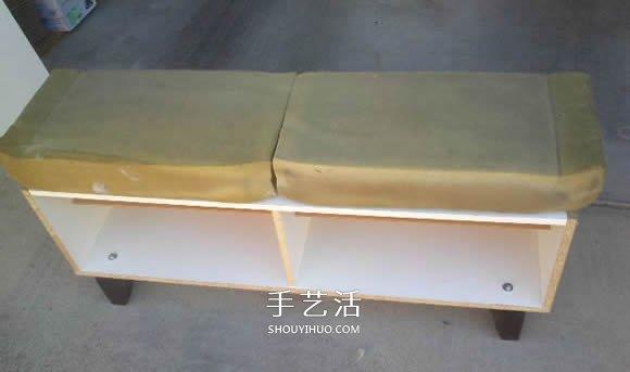 废料制作鞋柜的教程 DIY木鞋柜的制作方法 -  www.shouyihuo.com