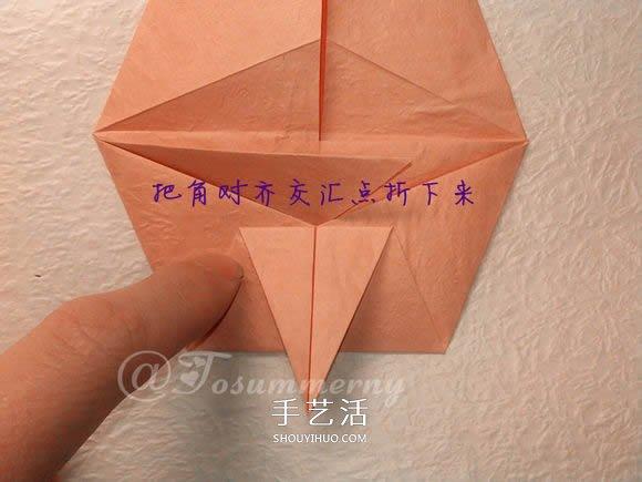 怎麼摺紙老鼠的圖解 立體小老鼠的折法步驟
