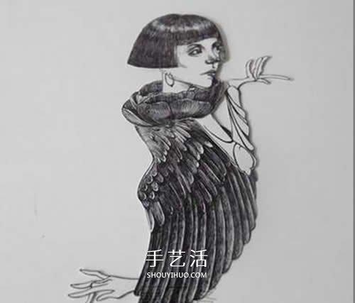 剪纸制作可以动的人偶 卡纸人偶玩具手工制作 -  www.shouyihuo.com