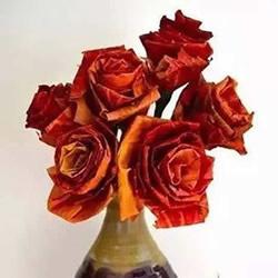 落叶制作玫瑰花图解 枫叶玫瑰花的做法步