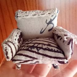 不织布扶手沙发模型DIY 迷你单人沙发布艺
