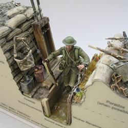 剖开炮火的残酷!第一次世界大战壕沟模型