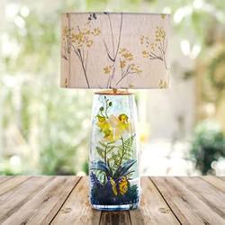 将灯具和童话场景结合!美丽玻璃罐台灯