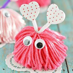 毛线小怪物手工制作 简单毛线制作可爱小怪物
