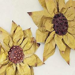 幼儿手工制作向日葵 简单牛皮纸做太阳花