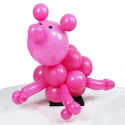 气球造型教程图解:一步步做出可爱小粉猪