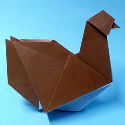 折纸母鸡的方法图解 怎么折母鸡的折法步