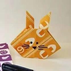 幼儿折纸兔头的方法 简易手工兔头的折法