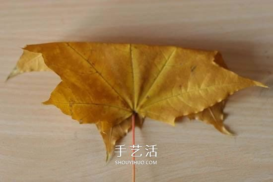 枫叶怎么做玫瑰花教程 简单枫叶玫瑰DIY方法 -  www.shouyihuo.com