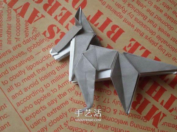 狐狸毛_可爱小狗的折法图解 手工折纸小狗的步骤图(5)_手艺活网