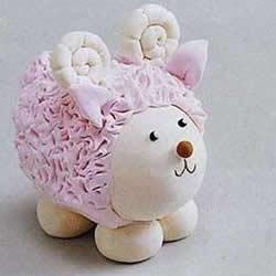 粘土小绵羊的做法图解 超轻粘土制作小绵羊