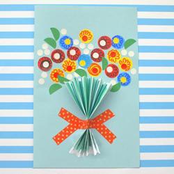 国庆节贺卡手工制作 母亲节教师节也可以用!