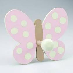 DIY蝴蝶挂衣钩的方法 挂衣钩美化图解教程