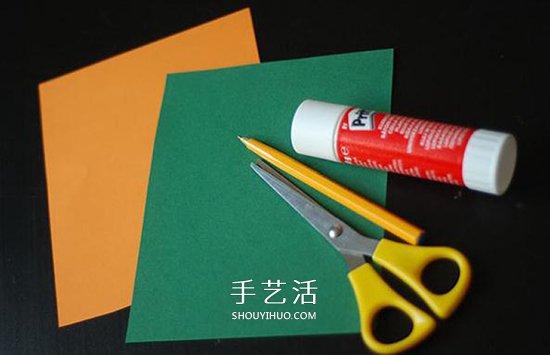 简单树叶装饰画制作 儿童卡纸树叶画的做法 -www.shouyihuo.com