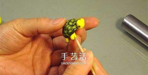 超輕粘土製作小烏龜 逼真的粘土烏龜DIY圖解