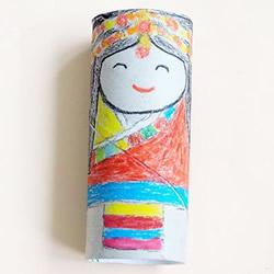 卷纸筒娃娃手工制作 简单卷纸筒做人偶的