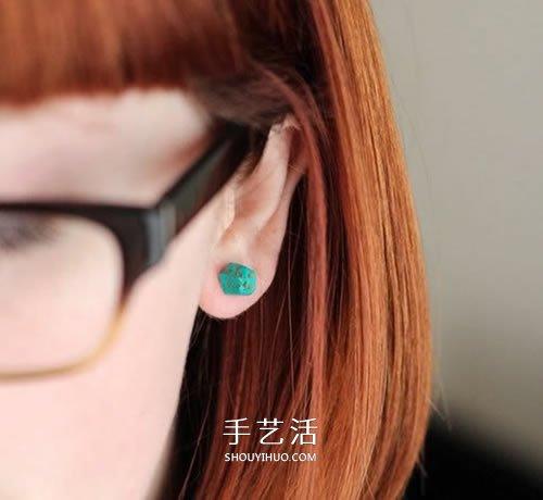 软陶DIY制作糖果耳钉 漂亮的软陶耳钉怎么做 -  www.shouyihuo.com