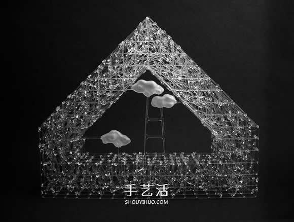 Eunsuh Choi优雅玻璃雕塑 宛如冬日霜冻的枝枒 -  www.shouyihuo.com