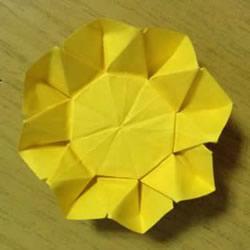 向日葵折纸步骤图解 详细折纸向日葵的方法