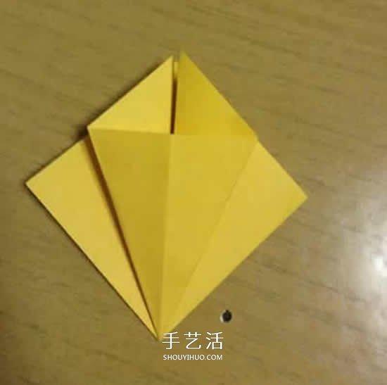 向日葵折纸步骤图解 详细折纸向日葵的方法 -  www.shouyihuo.com