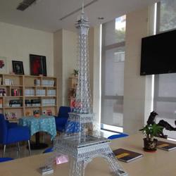 大头针制作埃菲尔铁塔 金属版埃菲尔铁塔模型DIY