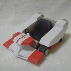 R4跑车纸模型的图纸 卡纸做跑车模型展开图