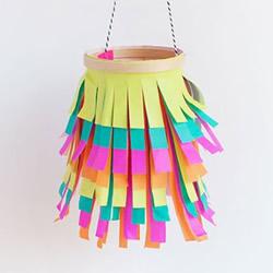 彩纸灯笼制作方法图解 简单灯笼的做法步