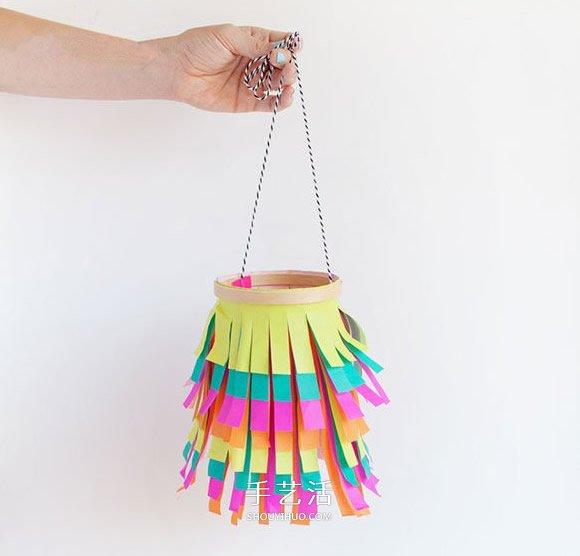 彩纸灯笼制作方法图解 简单灯笼的做法步骤 -  www.shouyihuo.com