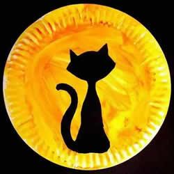 幼儿餐盘手工制作月夜 创意餐盘画的制作方法
