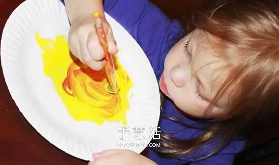幼兒餐盤手工製作月夜 創意餐盤畫的製作方法