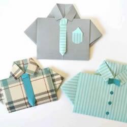 纸衬衫的折法简单图解 可爱小衬衫怎么折