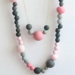 超轻粘土串珠项链DIY 自制粘土项链的做法