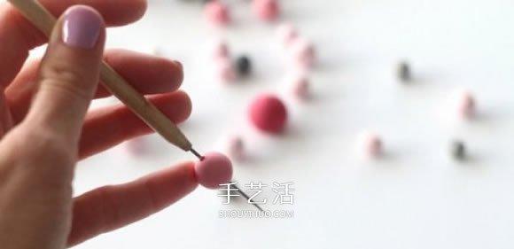 超轻粘土串珠项链DIY 自制粘土项链的做法 -  www.shouyihuo.com