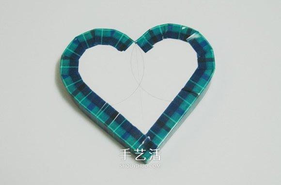 爱心礼品盒的做法图解 带盖心形包装盒制作 -  www.shouyihuo.com