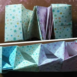 好玩魔术盒的折法图解 可收缩盒子的折法