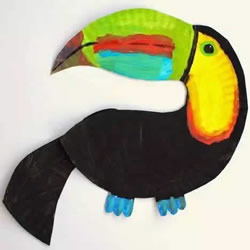 餐盘做鹦鹉波弟的方法 简单餐盘鹦鹉制作方法