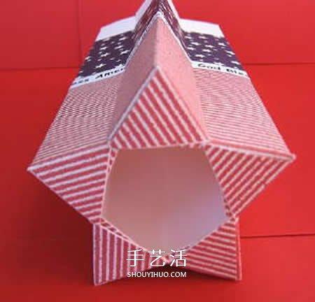 星型禮品盒的製作方法 卡紙做漂亮包裝盒圖解