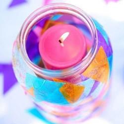 玻璃瓶做灯笼的方法 儿童手工制作玻璃灯笼