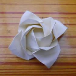 折纸福山玫瑰折法图解 福山玫瑰花的折法