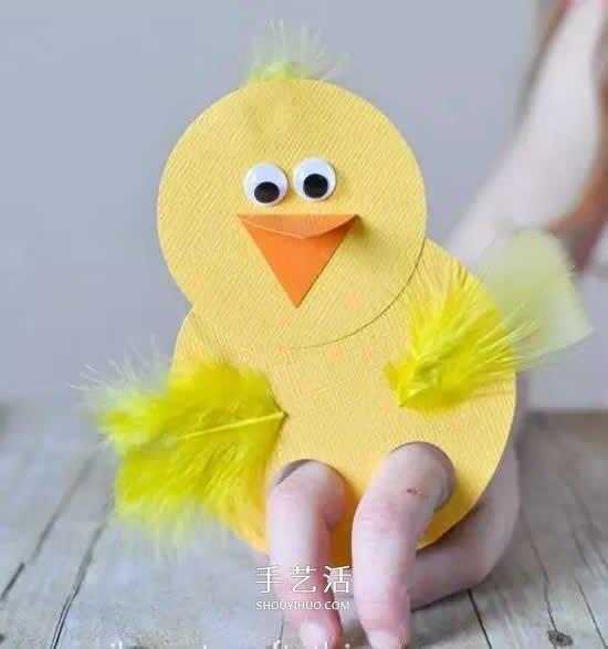 卡纸做手偶玩具的方法 幼儿卡纸手偶简单制作 -  www.shouyihuo.com
