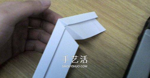 B-2轰炸机的折法图解 折纸隐形轰炸机的方法 -  www.shouyihuo.com