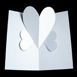 简单爱心卡片的做法 自制立体爱心卡片图