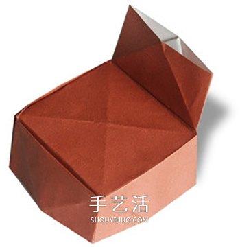 簡單沙發的折法圖解 幼兒摺紙單人沙發的方法